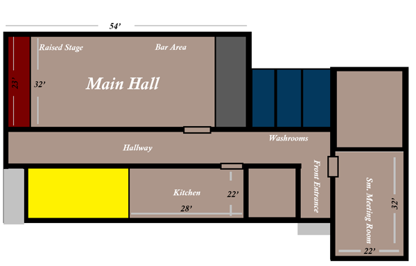 Kendal Community Centre Floor Layout